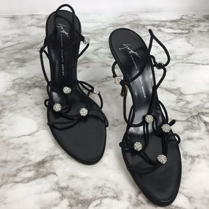 Giuseppe Zanotti High Heeled Mule Crystal Sandals
